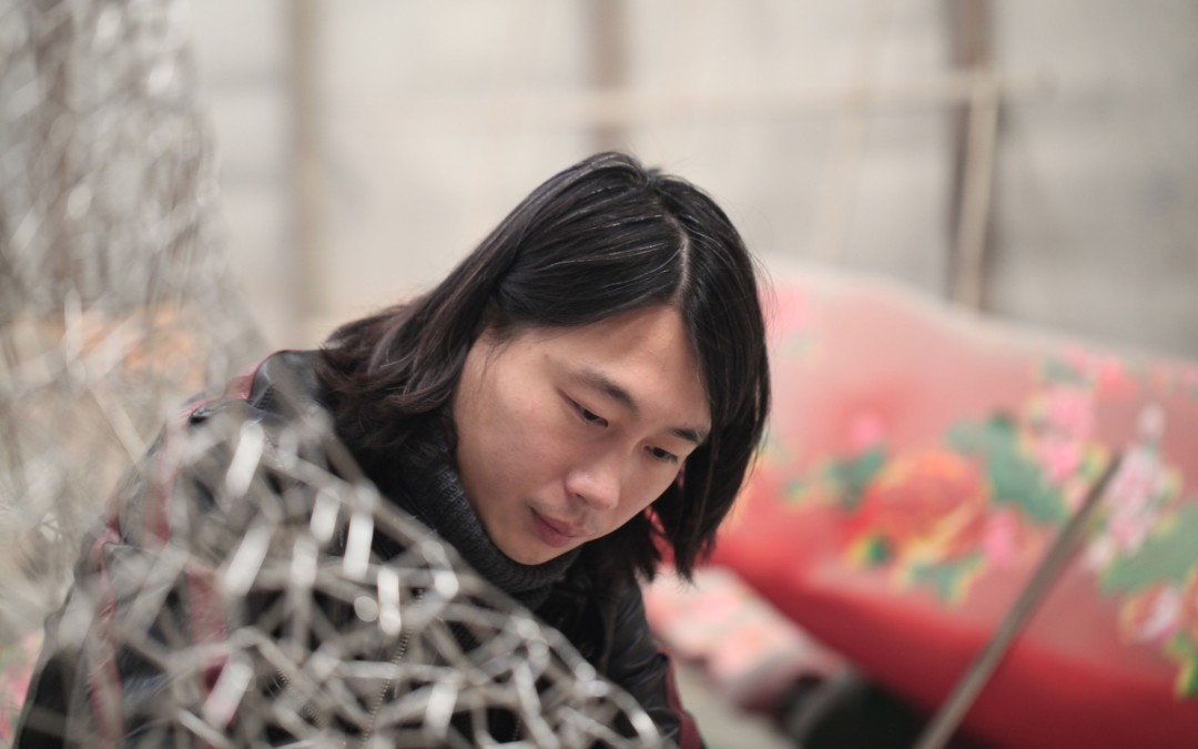 In the studio with Zheng Lu, Butterfly In Love With a Flower